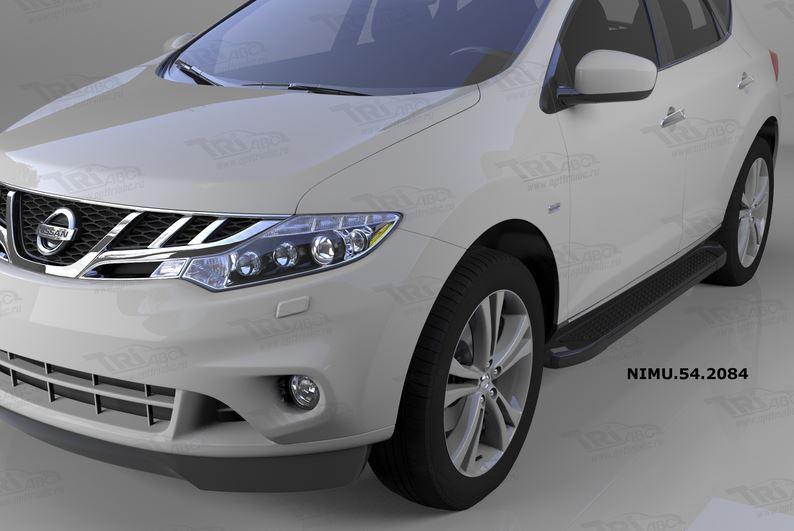 Пороги алюминиевые (Sapphire Black) Nissan Murano (2008-), NIMU542084