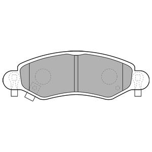 Колодки дисковые, DELPHI, LP1500