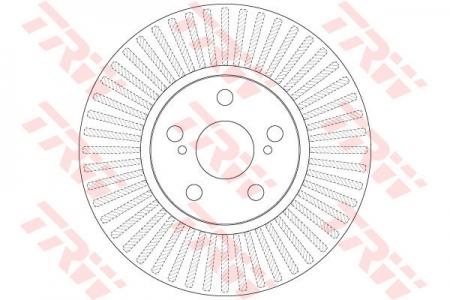 Диск тормозной передний, TRW, DF6234