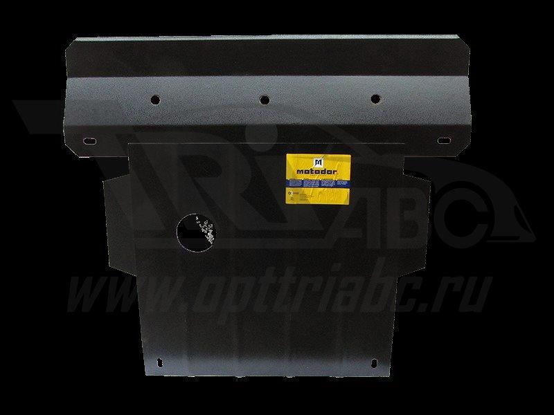 Защита картера двигателя, КПП SEAT Toledo 1999-2006 V=1,4; 1,6; 1,8; 2,0 (сталь 2 мм), MOTODOR02001