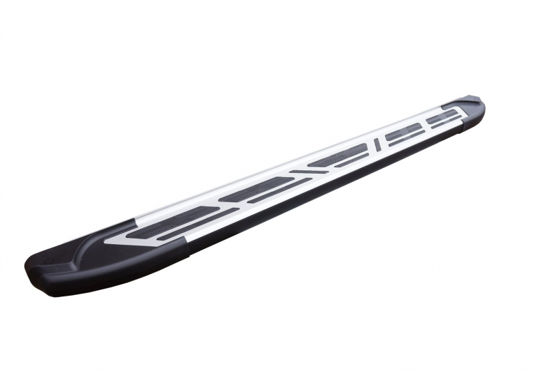 Пороги алюминиевые (Corund Silver) Chevrolet Niva (2008-), CENI532121
