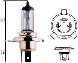 Лампа, 12 В, 60/55 Вт, H4, P43t/38, HELLA, 8GJ 002 525-471