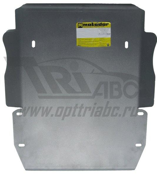 Защита картера двигателя, ПДФ, КПП, РК Land Rover Discovery III 2008-2009 V=2,7TD (алюминий 8 мм), M