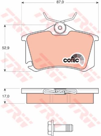 Колодки дисковые Задние, TRW, GDB1578
