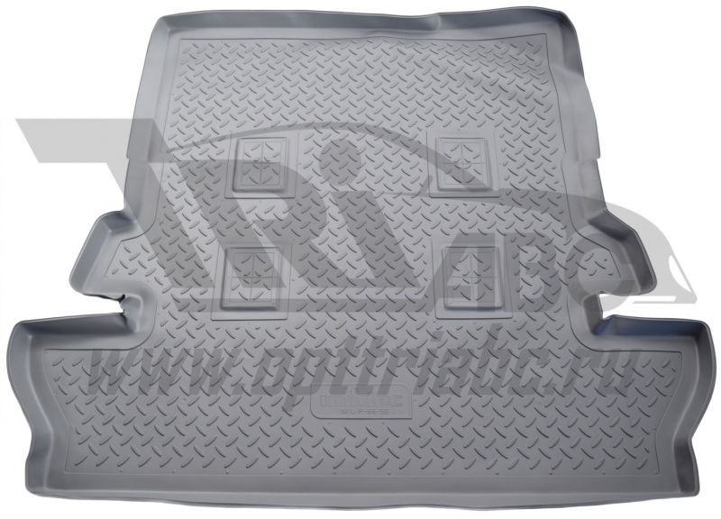 Коврик багажника для Toyota Land Cruiser (Тойота Ленд Круизер) 200 (7 мест) (2007-/ 2015-) (серый),