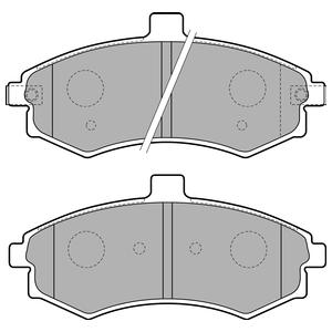 Колодки дисковые, DELPHI, LP1788