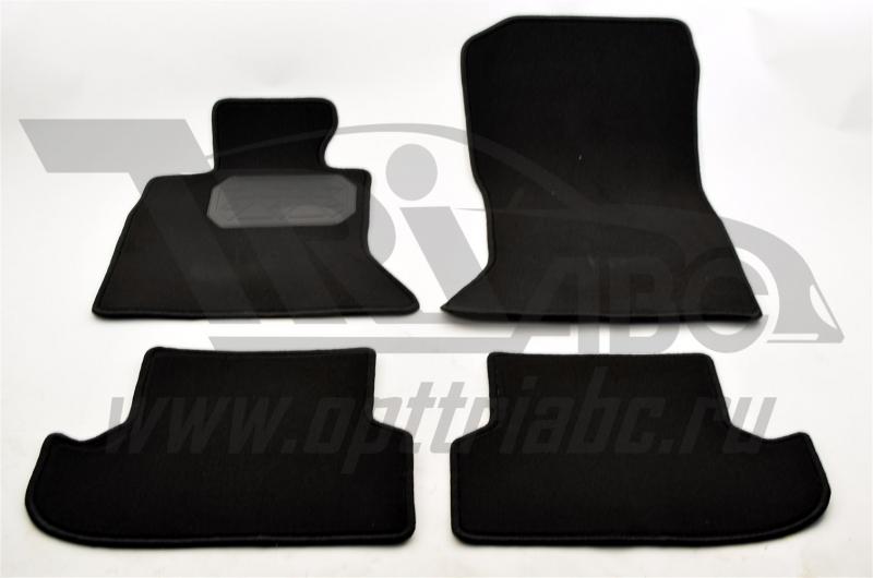 Коврики салона текстильный BMW 5 F10 (2013-) (Велюр, полиамид)(подпятник п/у)(черные), NPA00VTE07015