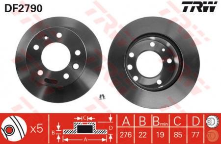 Диск тормозной передний, TRW, DF2790