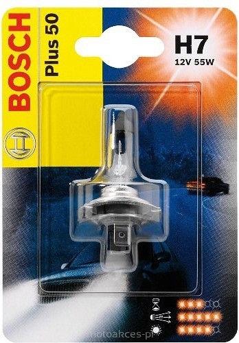 Лампа Plus 50/60, 12 В, 55 Вт, H7, PX26d, BOSCH, 1 987 302 079
