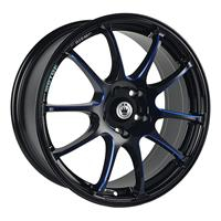 Колесный диск Konig S888 8x18/5x108 D63.4 ET45 черный, по лучам частично синий (GBQPB)