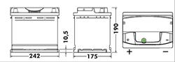 АКБ Premium 64Ah 640A 242x175x190 (+-)
