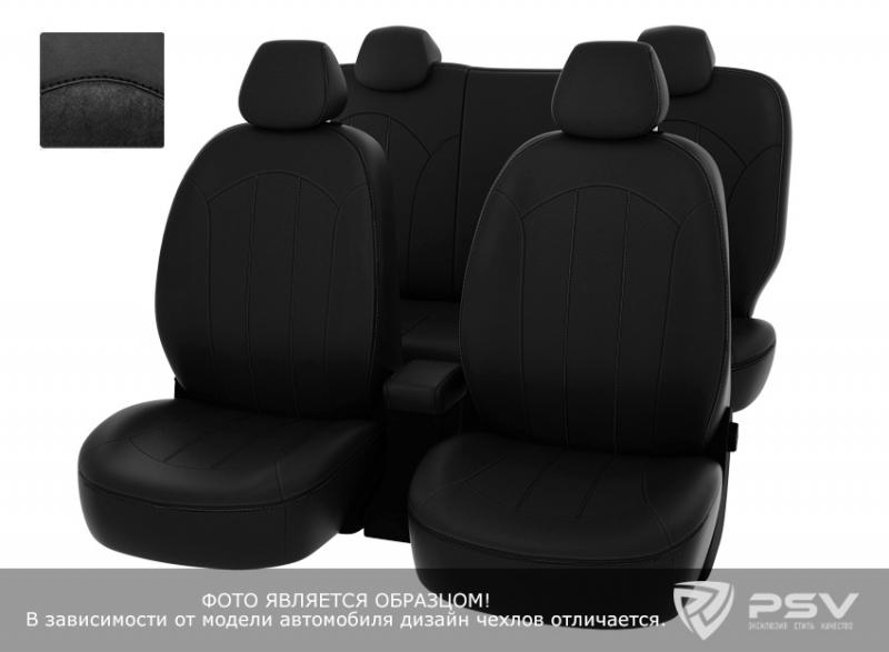 """Чехлы Honda CR-V-4 12-> черная экокожа + черная алькантара """"Оригинал"""", 123921"""