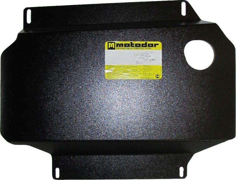 Защита картера двигателя, КПП, РК Nissan Navara III (D40) 2005- V= все (сталь 2 мм), MOTODOR01450