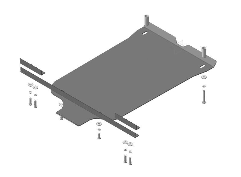 Защита картера ПДФ, КПП Chevrolet Niva 2002- V=1,7i (сталь 3 мм), MOTODOR13006