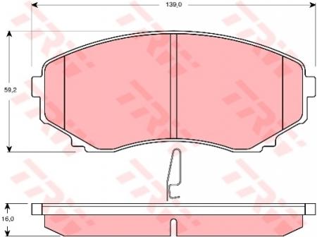 Колодки дисковые Передние, TRW, GDB3255