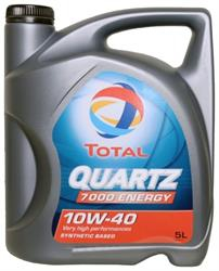 Моторное масло TOTAL QUARTZ 7000 ENERGY, 10W-40, 5л, 201537