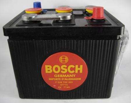 Аккумуляторная батарея Bosch Classic, 6 В, 77 А/ч, 360 А, F026T02303
