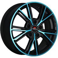 Колесный диск Yokatta MODEL-26 6x15/4x100 D57.1 ET48 матовый черный+синий (MB+BL)