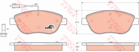 Колодки дисковые Передние, TRW, GDB1483