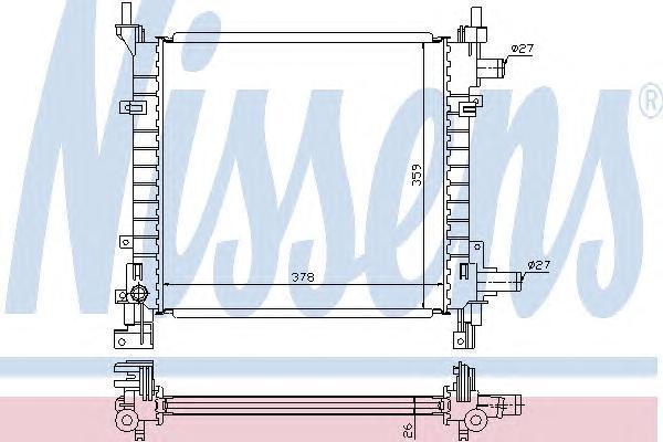 Радиатор системы охлаждения, NISSENS, 62083A