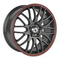 Колесный диск Konig S895 7x17/5x112 D67.1 ET40 черный с красной полосой на ободе (MGMRL)