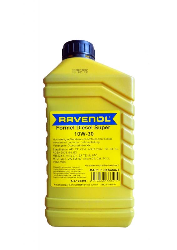 Моторное масло RAVENOL Formel Diesel Super, 10W-30, 1 л, 2200000006783