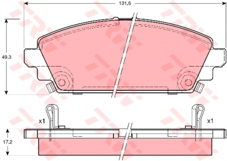 Колодки дисковые Передние, TRW, GDB3189