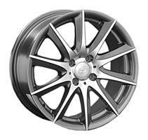 Колесный диск LS Wheels LS 286 7x17/5x100 D57.1 ET45 серый глянец, полированнные спицы и обод (GMF)