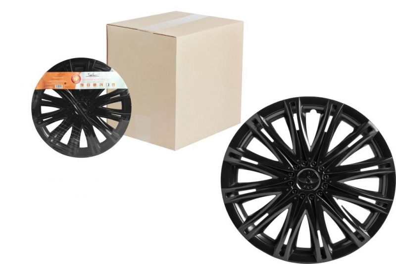 "Колпаки для колес AIRLINE 15""Скай"" чёрный глянец. 2 шт, AWCC1513"