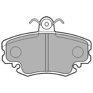 Колодки дисковые, DELPHI, LP885