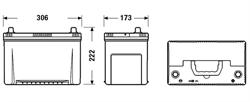 Аккумулятор TUDOR High-Tech 95 А/ч TA954 выс обр. 306x173x222 EN 800