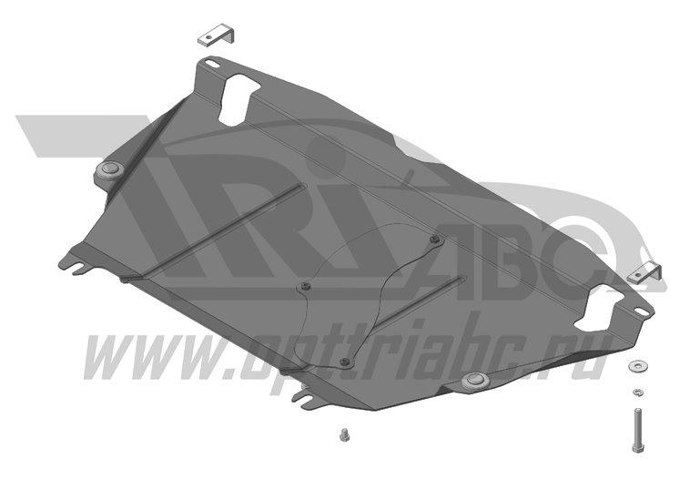 Защита картера двигателя, КПП Toyota RAV4 2013- V=2,0i, 2,5i (сталь 2 мм), MOTODOR62503