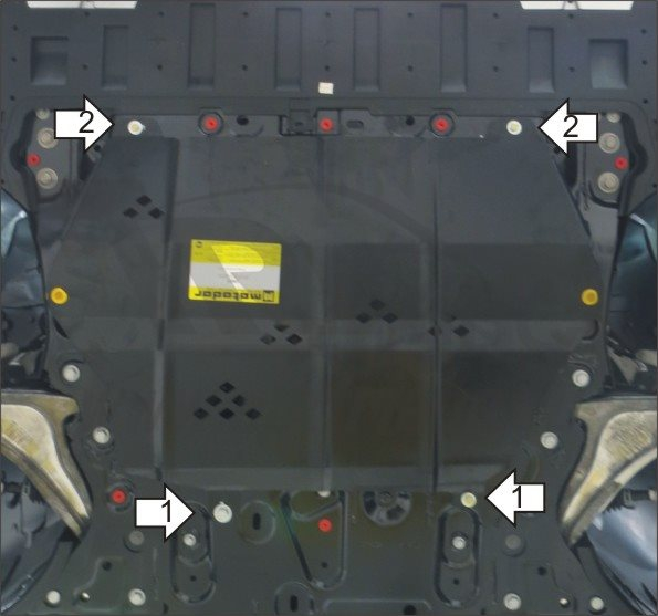 Защита картера двигателя, КПП Volvo XC90 2015- V-2,0Ti АКПП(сталь 2 мм), MOTODOR02621