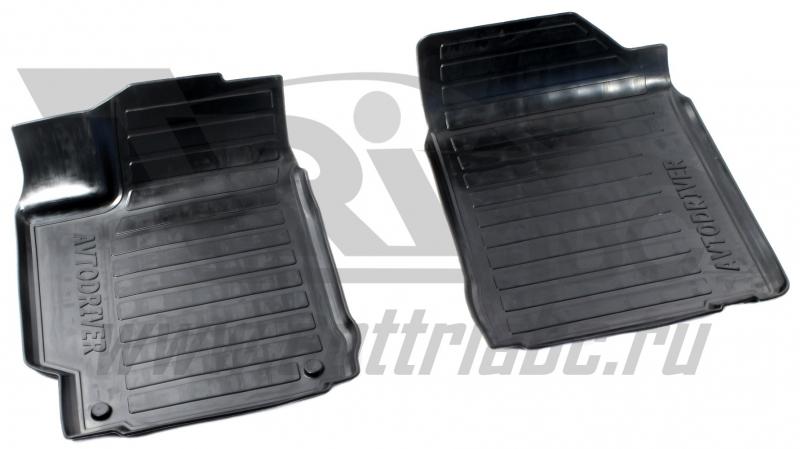 Коврики салона резиновые с бортиком для Toyota Camry (2014-) (2 передних), ADRAVG2402