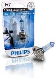 "Лампа ""BlueVision ultra"", 12 В, 55 Вт, H7, PX26d, PHILIPS, 12972 BVUB1"