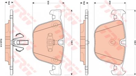 Колодки дисковые Задние, TRW, GDB1857