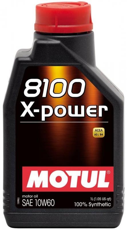 Моторное масло MOTUL 8100 X-Power, 10W-60, 4л, 106143