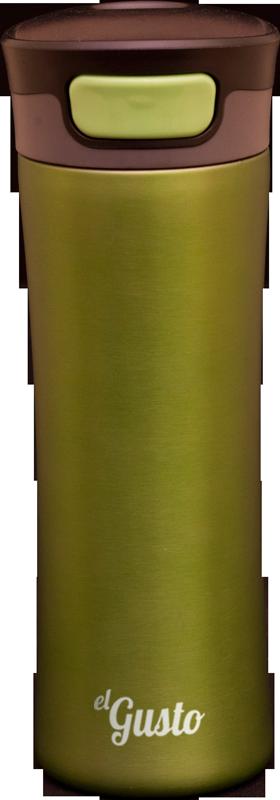 Термокружка el GUSTO Primavera, зеленая, 470 мл, 043G
