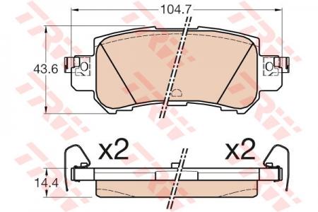 Колодки дисковые Задние, TRW, GDB3539