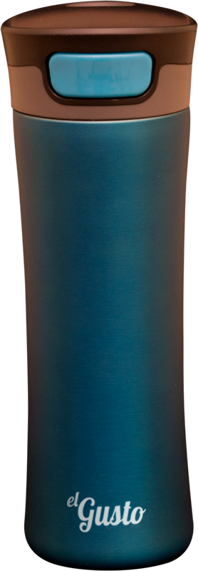 Термокружка el GUSTO Primavera, синяя, 470 мл, 043B
