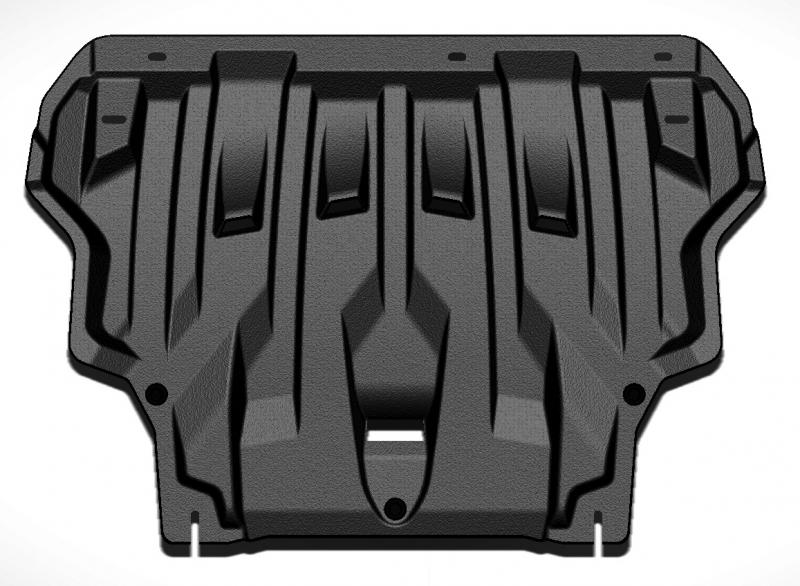 Защита картера двигателя и кпп Ford Focus V-1.6, 2,0 (2011-) / Grand C-Max V-1.6T, 2,0 (2011-) (Комп