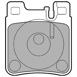 Колодки дисковые, DELPHI, LP841