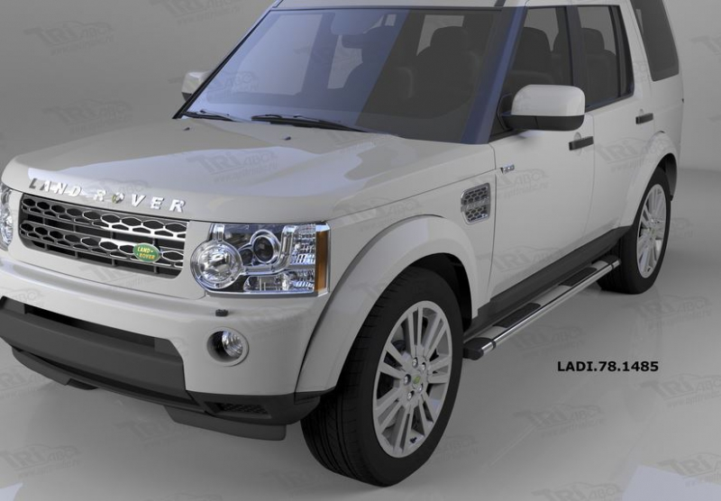 Пороги алюминиевые (Emerald silver ) Land Rover Discovery 4 (2010-)/Discovery 3 (2008-2010), LADI781