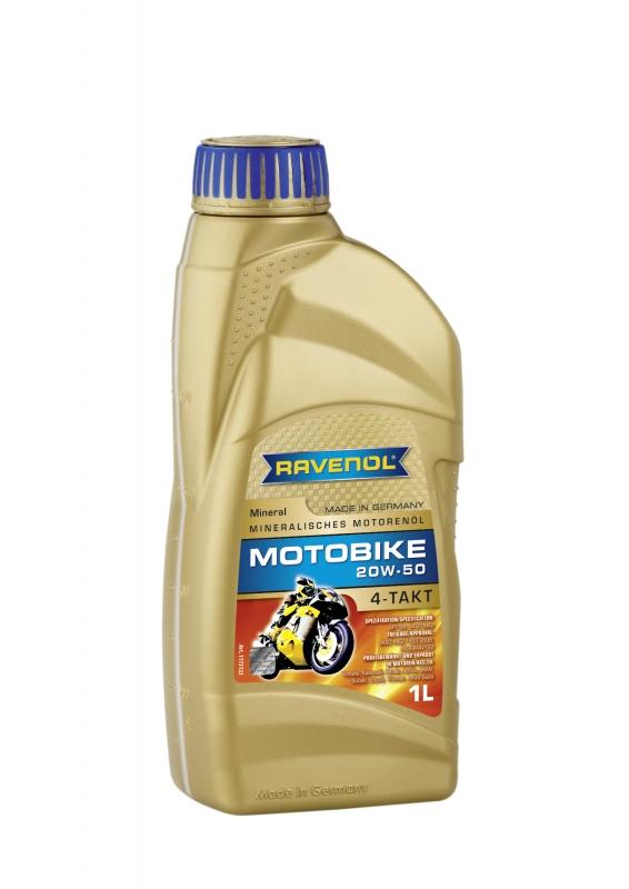 Моторное масло RAVENOL Motobike 4-T Mineral, 20W-50, 1 л, 4014835731417