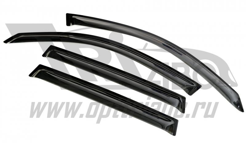 Дефлекторы боковых окон BMW X3 (2011-) 4дв (темный), SBMWX31132
