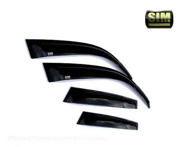 Дефлекторы боковых окон Honda (Хонда) Accord (2008-) (темный с серебристой полосой) (4 части), SHOAC