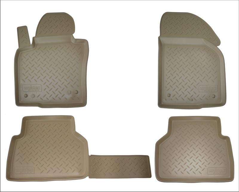Коврики салона для Audi (Ауди) Q3 (2011-) бежевый, NPA11C05600BEIGE