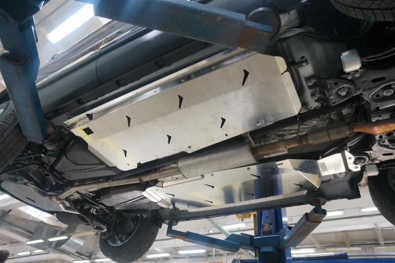 Защита днища Ford Explorer,V-все ( 2010-2015-) 3 части (без защиты картера) (Алюминий 4 мм), 0817ABC