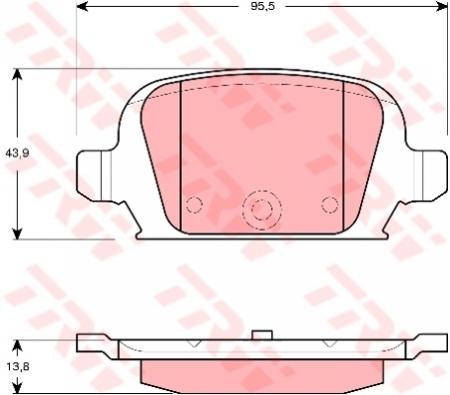 Колодки дисковые Задние, TRW, GDB1412