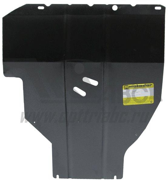 Защита картера двигателя, КПП Nissan Tiida Хэтчбек 2006- Nissan Tiida Sedan 2006- V=1,6i 1,8i (сталь